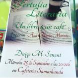 Tertulia Literaria Un Libro Y Un Cafe
